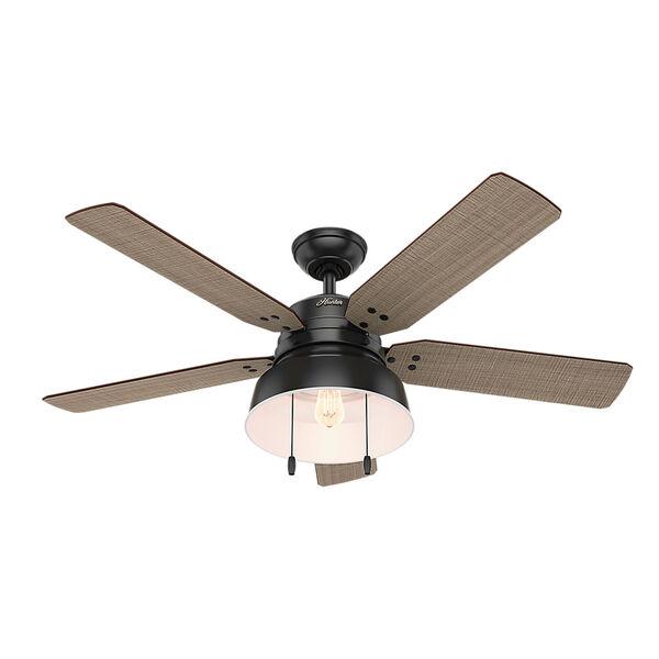 Mill Valley Matte Black 52-Inch One-Light LED Adjustable Ceiling Fan, image 1