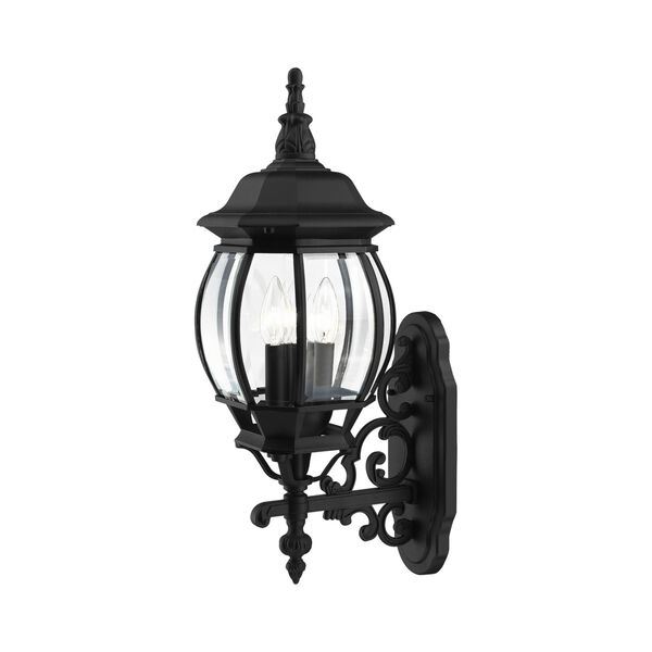 Frontenac Textured Black 22-Inch Three-Light Outdoor Wall Sconce, image 4