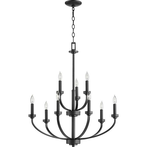 Mansfield Black Nine-Light Chandelier, image 2