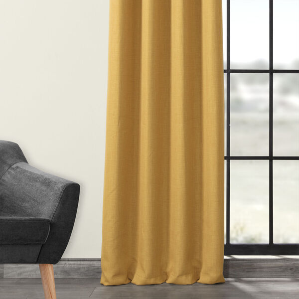 Gold 108 x 50-Inch Polyester Blackout Curtain Single Panel, image 3
