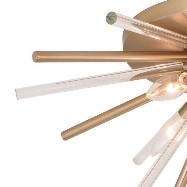 Aria Natural Brass Four-Light Flush Mount, image 2