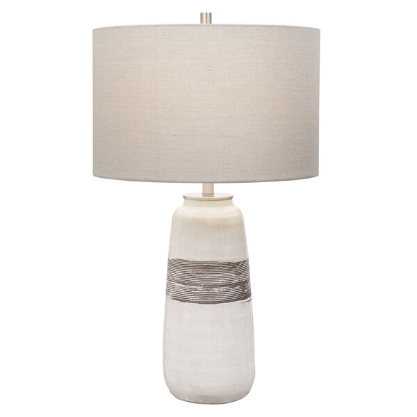 Comanche Off-White One-Light Crackle Table Lamp, image 1