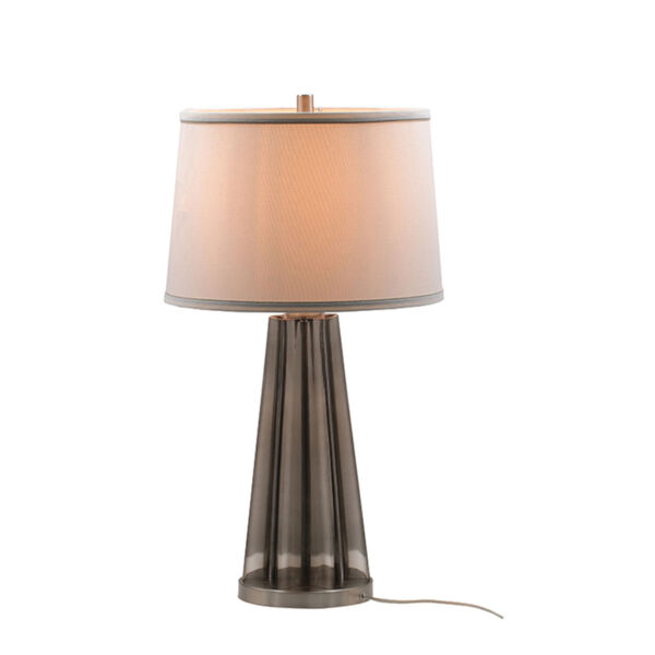 Smoke and SIlver One-Light Table Lamp, image 2