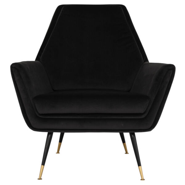 Vanessa Shadow Gray and Black Occasional Chair, image 2