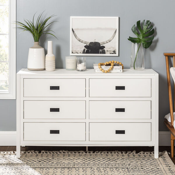 Lydia White Dresser with Six Drawer, image 3