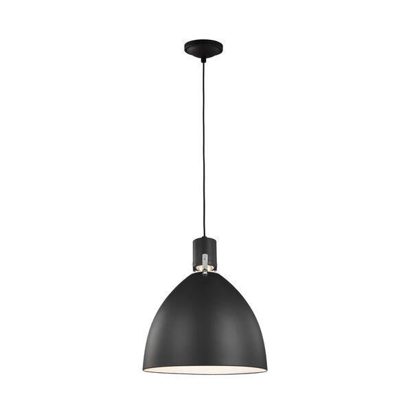 Brynne Matte Black 19-Inch LED Pendant, image 2