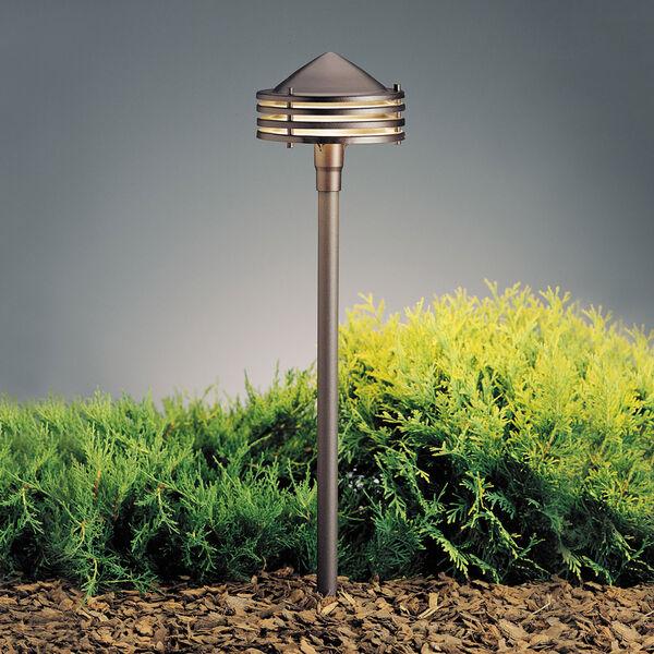 Textured Architectural Bronze 23-Inch One-Light Landscape Path Light, image 1
