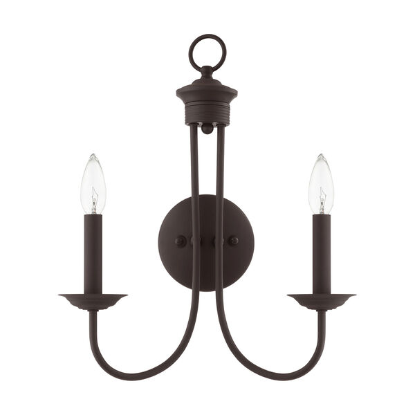 Estate Bronze Two-Light Wall Sconce, image 2