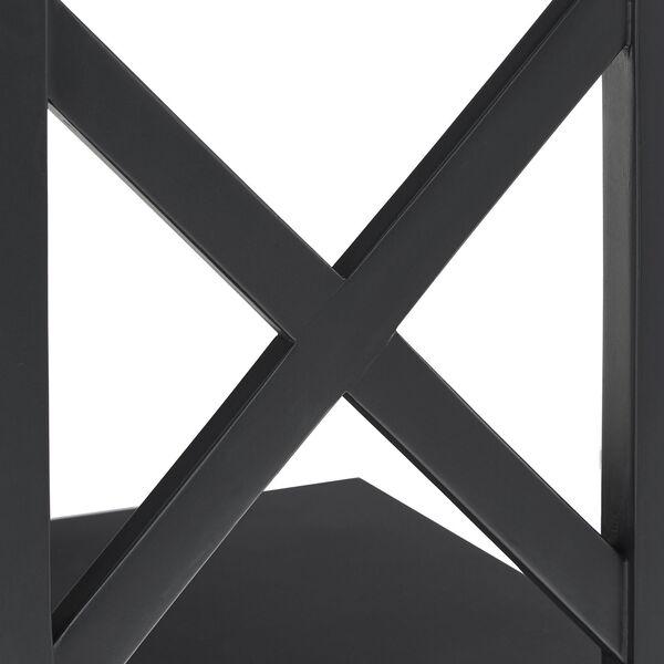 Tanya Black X-Frame Three-Shelve Bookcase, image 5