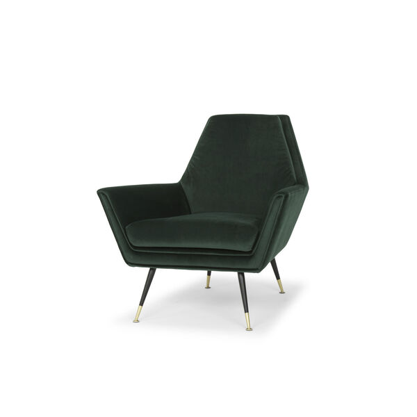 Vanessa Emerald Green and Black Occasional Chair, image 4