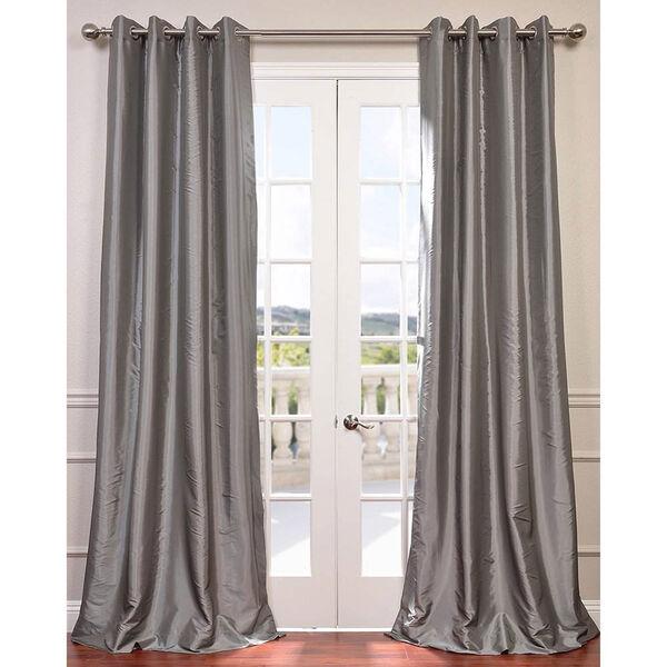 Platinum 84 x 50-Inch Grommet Blackout Faux Silk Taffeta Curtain Single Panel, image 1