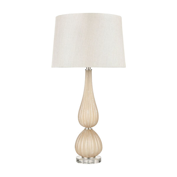 Mariani Salted Caramel and Clear One-Light Table Lamp, image 2