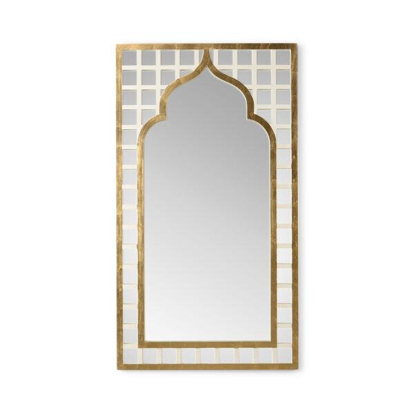 Treillage Cream and Antique Gold Wall Mirror, image 1