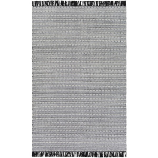 Azalea Black, Silver Gray and White Rectangular  Rug, image 1