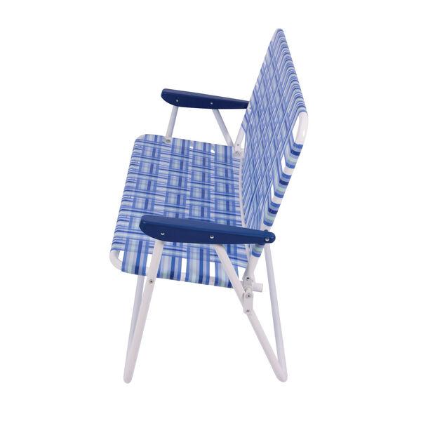 Blue White Web Love Seat, image 3