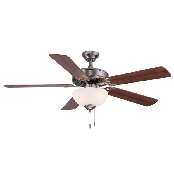 Dalton Nickel 52-Inch Two-Light LED Ceiling Fan, image 1