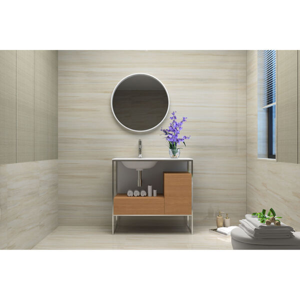 Tory Natural Walnut 36-Inch Vanity Console with Mirror, image 6