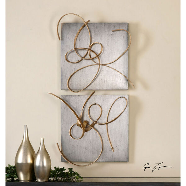Harmony by Grace Feyock: 24 x 22-Inch Metal Wall Art, Set of Two, image 1