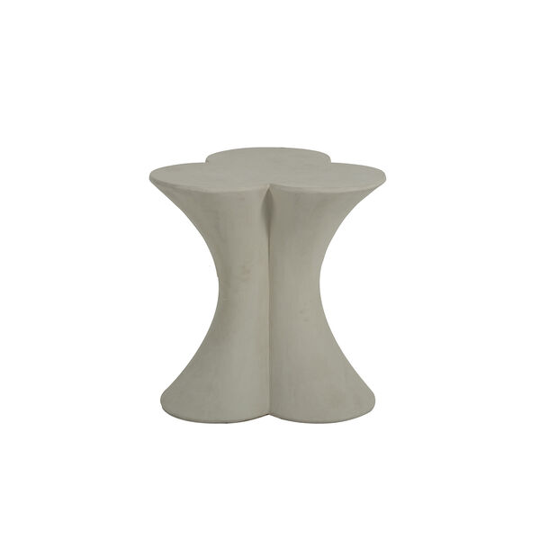 Carlin Textured Misty White End Table, image 2