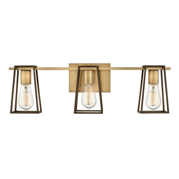 Filmore Heritage Brass Three-Light Bath Vanity, image 1