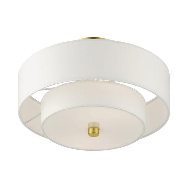 Meridian Satin Brass Two-Light Semi-Flush Mount, image 4