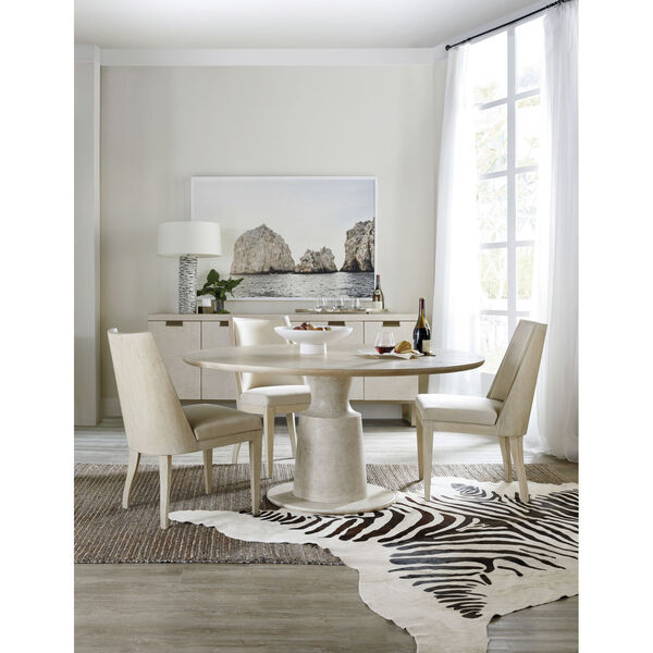 Cascade Taupe Round Pedestal Dining Table, image 5
