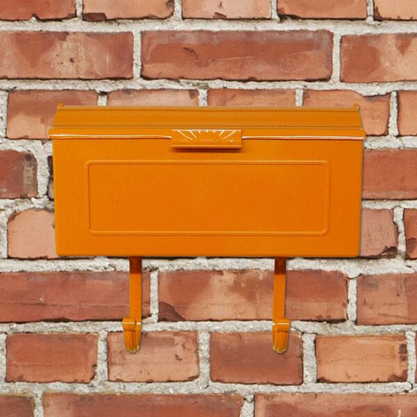 Nash Orange Horizontal Mailbox - (Open Box), image 3