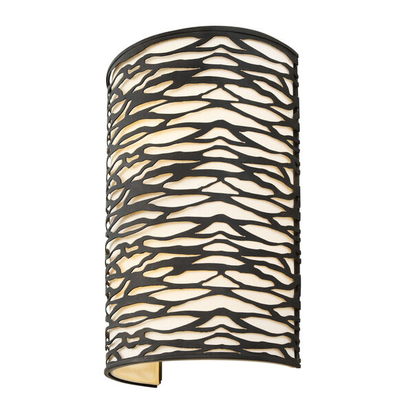 Kato Carbon Black Two-Light Wall Sconce, image 1