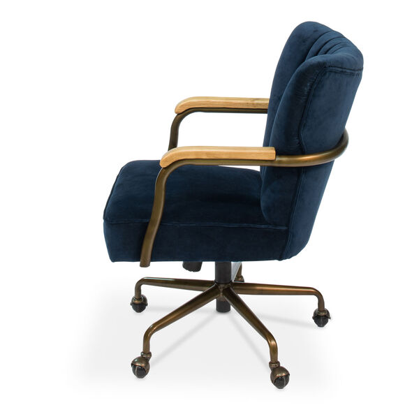 Blue Brooks Swivel Upholsterd Chairs, image 3