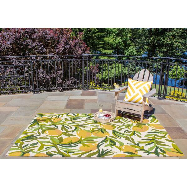 Veranda Floral Green Indoor/Outdoor Rug, image 2