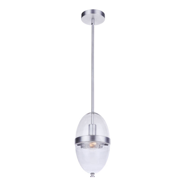 Sivo Satin Aluminum One-Light Outdoor Mini-Pendant, image 2