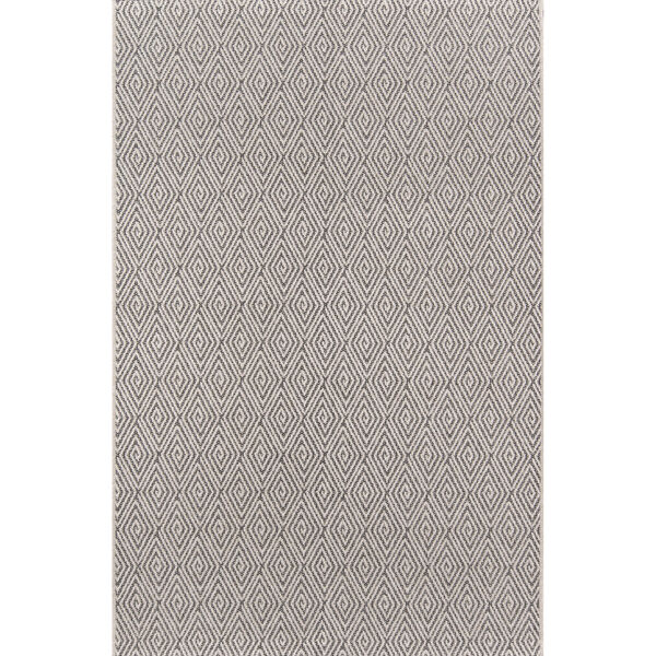 Downeast Wells Charcoal Rectangular: 6 Ft. 7 In. x 9 Ft. 6 In. Rug, image 1