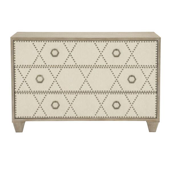 Santa Barbara Sandstone White Oak Veneers and Fabric Drawer Chest, image 1