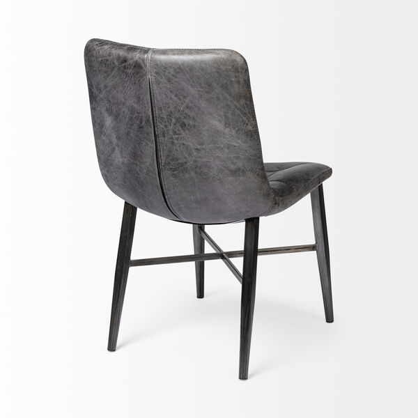 Horsdal Black Leather Seat Dining Chair, image 6