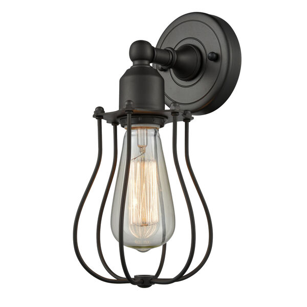 Austere Oil Rubbed Bronze Six-Inch One-Light Wall Sconce, image 1