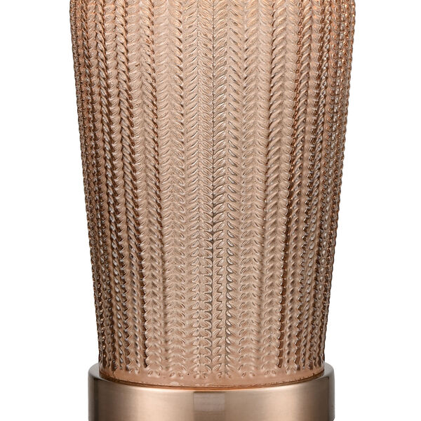 Prosper Autumnal and Coffee Plated One-Light Table Lamp, image 4