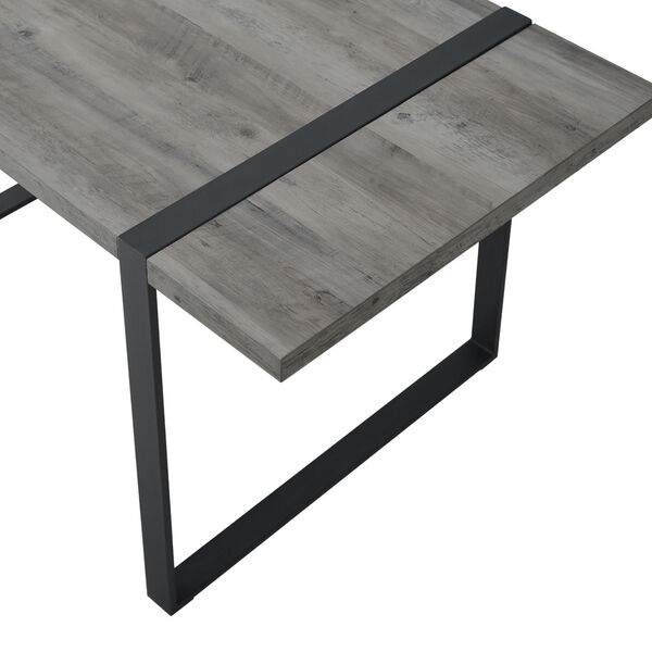 Urban Blend Gray and Black Dining Table, image 5