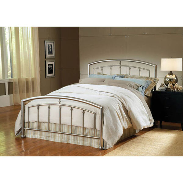 Claudia Bed Matte Nickel Full Complete Bed, image 1