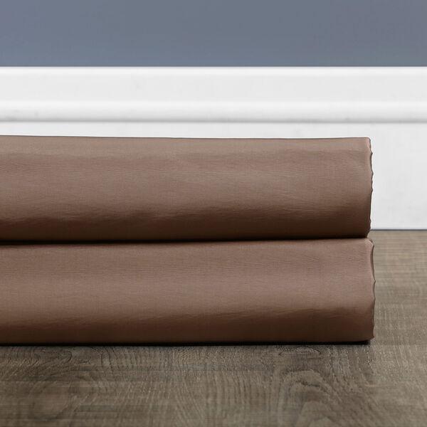 Ruched Mushroom 84 x 50-Inch Faux Silk Taffeta Curtain Single Panel, image 7