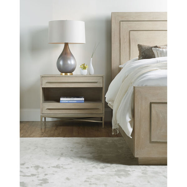 Cascade Taupe Two-Drawer Nightstand, image 3