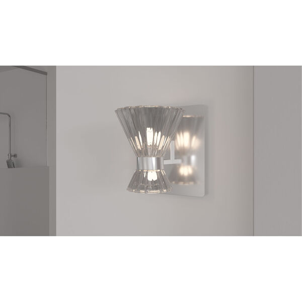 Zuri Polished Chrome LED Wall Sconce, image 2