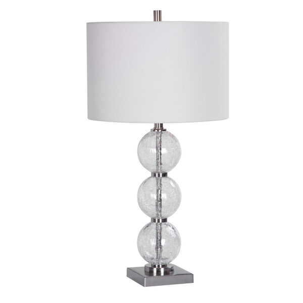Vivian Brushed Nickel 29-Inch One-Light Table Lamp, image 1