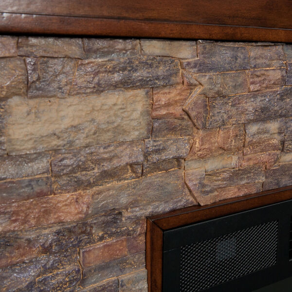 Canyon Whickey Maple Simulated Stone Electric Fireplace, image 6