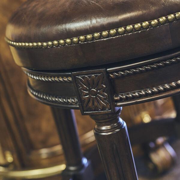 Chapman Distressed Walnut 30-Inch Bar Height Swivel Stool, image 5