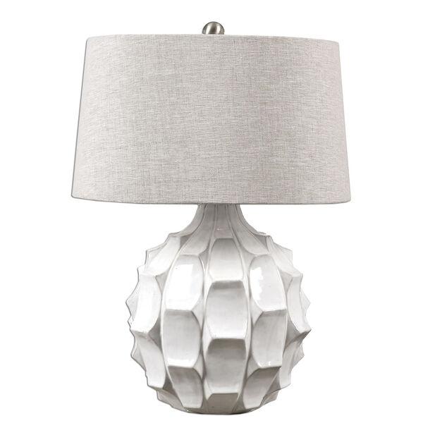 Guerina White One-Light Table Lamp, image 1