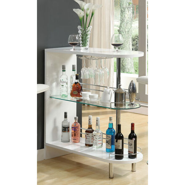 White Contemporary Bar Table, image 1