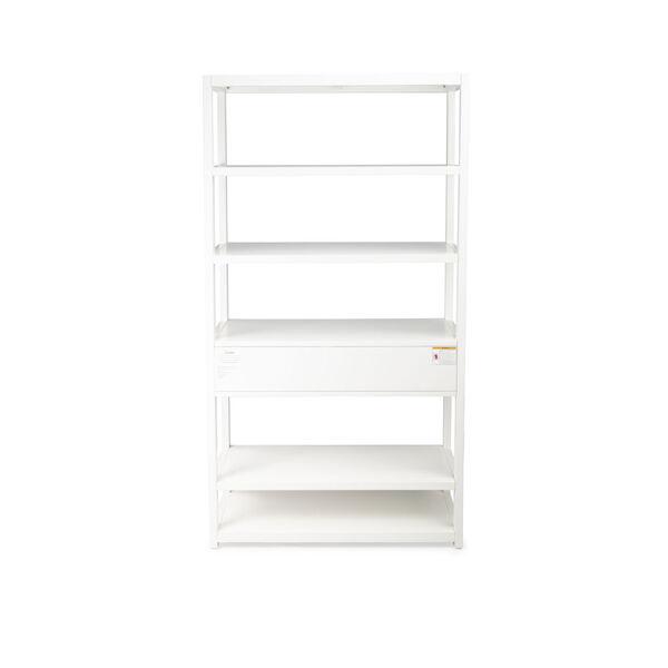 Lark White 39-Inch Rectangular Bookshelf, image 6