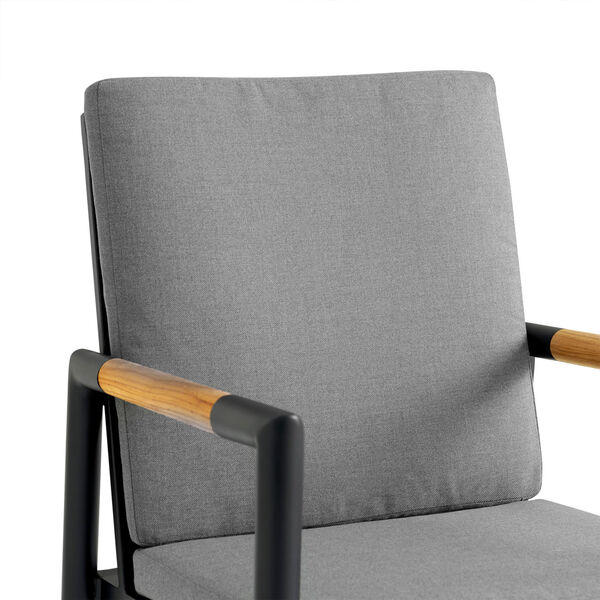 Crown Black Outdoor Dining Chair, Set of Two, image 5