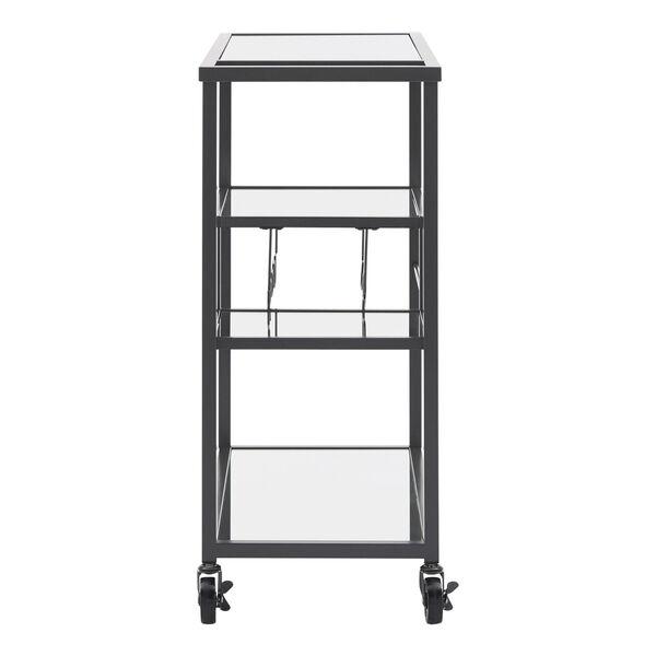 Juan Black Glass Top Metal Bar Cart, image 5