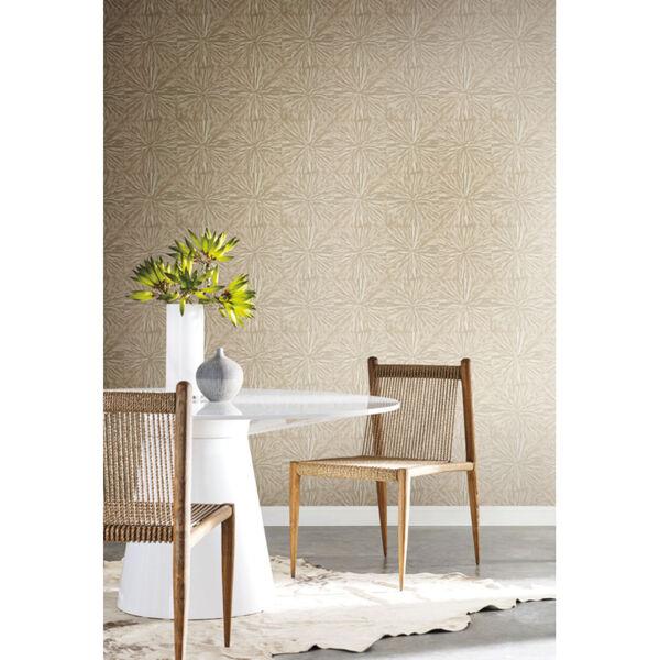 Antonina Vella Elegant Earth Gold Squareburst Geometric Wallpaper, image 1